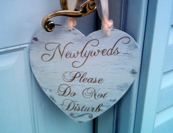GOLD Wedding Sign DOUBLE-SIDED Do Not Disturb & by ...