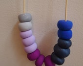 Bright Polymer Clay Bead Necklace. Hand Rolled by Courtney Elise.