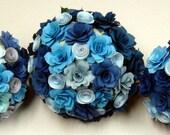 Paper  Flower Roses Wedding Bouquet  Rehearsal bouquet Toss Bouquet