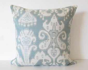 Kravet Ikat light blue 20x20 decorative throw pillow cover