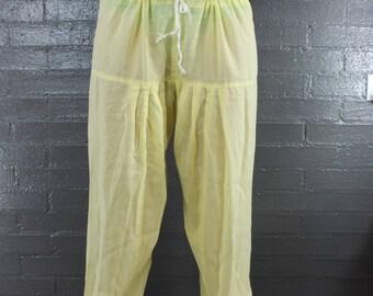 Vintage Sheer Harem Pant Yellow Pant