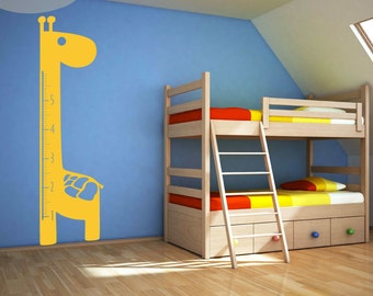 Giraffe Growth Chart -- Vinyl Wall Decal