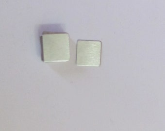 Aluminum Squares - 1/2 x 1/2  -  24 gauge -square blanks -  5 count or more - hand stamping blanks -metal blanks