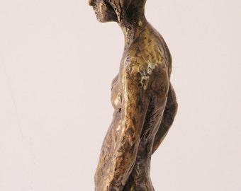 Sasha - a small bronze sculpture, an original work by Shaul Baz