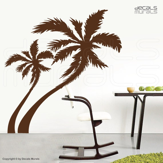large wall decals palm tree vinyl stickers decor. Black Bedroom Furniture Sets. Home Design Ideas
