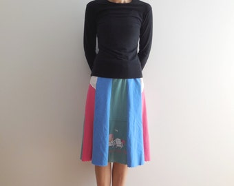 T Shirt Skirt Women's Clothing TShirt Skirt Ocean City New Jersey Beach Handmade Skirt Cotton Skirt Summer Skirt ohzie