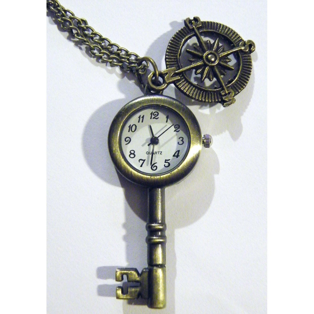 pocket steunk compass antique style by tempusfugit