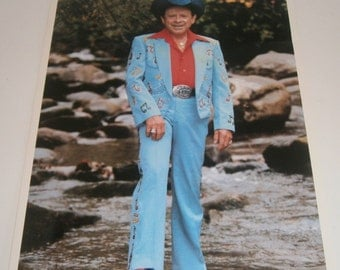 Little Jimmy Dickens Autographed Photo Photograph Ohio State Fair 1988 8.5 x 11