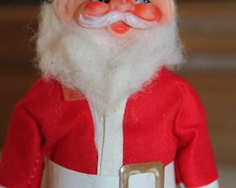 """Vintage Santa Figurine 7"""" Tall 1960 Christmas Decoration Old Fashion Saint Nick- Jolly Vintage Santa- Sale"""