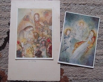 1930s Sulamith Wulfing Color Art Prints...Der Festagg and Der Kristall...free US shipping