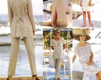 Vogue Sewing Pattern 1752 - Size 14-16-18 - Easy Summer Dress - Tunic - Pants - Skirt - Jacket - Cut to size 18 - A-line Jumper