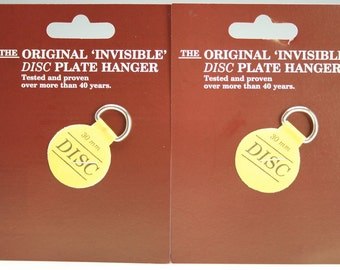 "Extra Small Plate Hangers Set of Two (2) - Invisible Disc - 1-1/4"" For Plates Up To 4"""