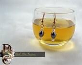 Titanium Pearl and Swarovski Earrings