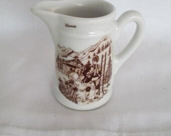 Apilco France Miniature Pitcher/ Apilco France Porcelain Creamer/Small Pitcher Transferware/ By Gatormom13