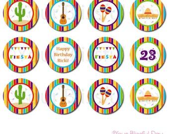 PRINTABLE Fiesta Party Circles #106