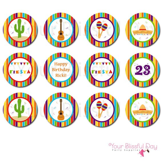PRINTABLE Fiesta Party Circles #106