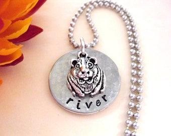 SUPER SALE Guinea Pig Jewelry, Guinea Pig Necklace, Personalized Jewelry, Animal Jewelry, Wildlife Jewelry