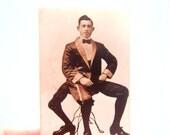 Vintage Photo Frank Lentini, Sepia Tone Photo Man with 3 Legs, Vintage Sideshow Photo, Vintage Circus Freak Photo