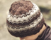 PDF file KNITTING PATTERN for worsted weight colorwork hat
