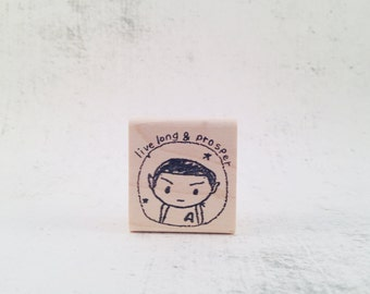 The Spock Live Long and Prosper Rubber Stamp