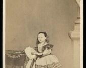 Original c1862 Royalty CDV Photo / Princess Beatrice by Mayall London