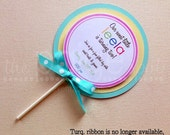 CLOSING SALE - See Homepage for Details! - Lollipop Party Invitations with Envelopes - 12 - sweet shoppe lollipop collection