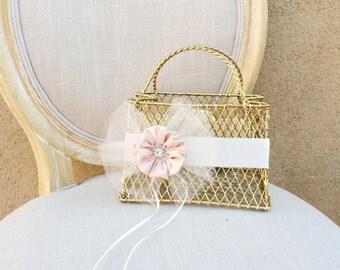 Flower Girl Basket, Pink Tutu, Pink Tulle, Fairytale Wedding, Wedding Basket, Rustic, Shabby Chic, Garden, Tutu Dress, Flower Girl Tutu