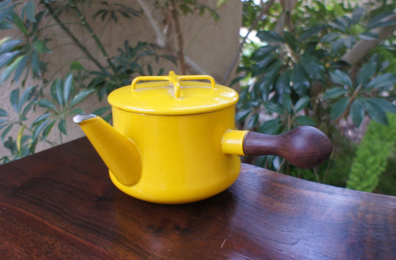 vintage yellow dansk kobenstyle tea kettle jens quistgaard - like this item