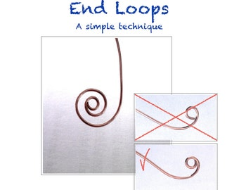 TUTORIAL  Technique for Creating Professional Looking Smooth Loop Ends to Your Jewelry Designs