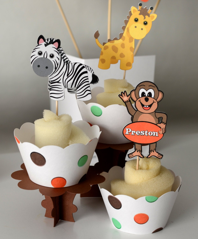 Safari Baby Shower Or Jungle Birthday Party Monkey Giraffe