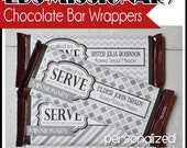 LDS MISSIONARY, Called to Serve Chocolate Bar Wrapper, Candy - PERSONALIZED Printable