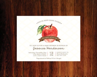 Apple of our Eye Baby shower invitation - set of 15