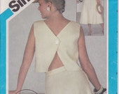 Wrap Top Pattern 6 Gored Skirt Pattern Size 6 - 10 uncut Simplicity 6443