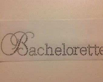 DIY Elegant Bachelorette Rhinestone Iron On Transfer