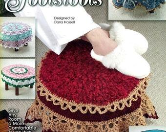Annie's Attic FANCY FOOTSTOOLS Crochet Designs Darla Hassell