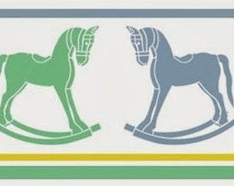 Popular items for cavallo a dondolo on etsy for Design delle camere dei bambini