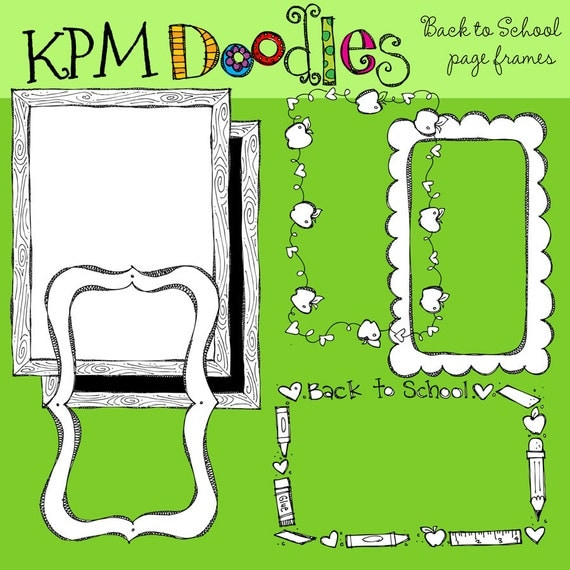 KPM Back to SChool Borders Digital Stamps