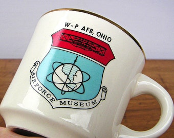 Vintage USA Air Force Museum Mug Wright Patterson Air Force Base Ohio