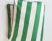 Large Stripe in Green Toddler Duvet - Green and White Stripe - Crib Duvet - Modern Baby - Preppy Baby