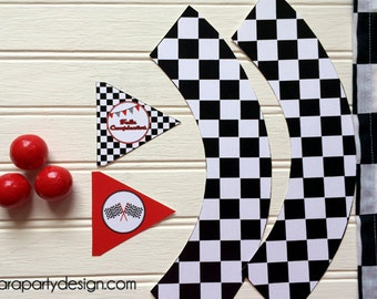 Race Party Collection by Fara Party Design- Printable Toppers and Wrappers
