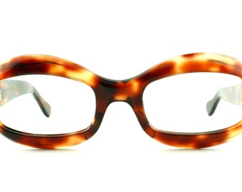Vintage Deadstock 60's Optique Magnifique Mod Tortoiseshell Eyeglass Frames France - FREE Domestic Shipping