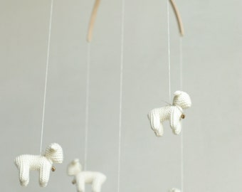 nursery decor - baby mobile -crib mobile - Lamb mobile - Sheep mobile - made to order