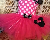 Minnie Mouse Birthday  Tutu Dress with BIrthday Hat