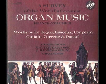 Survey of the World's Greatest Organ Music France Le Begue, Lasceux, Couperin, Corrette, and Others Vintage Vinyl Record Album VOX 3 LP Set