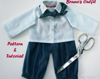 Bruno's outfit, PDF, Doll Clothing Sewing Pattern & Tutorial