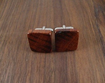 Handmade Natural Snake Wood Men's Cuff Links - Wedding, anniversary, any Special Occasion