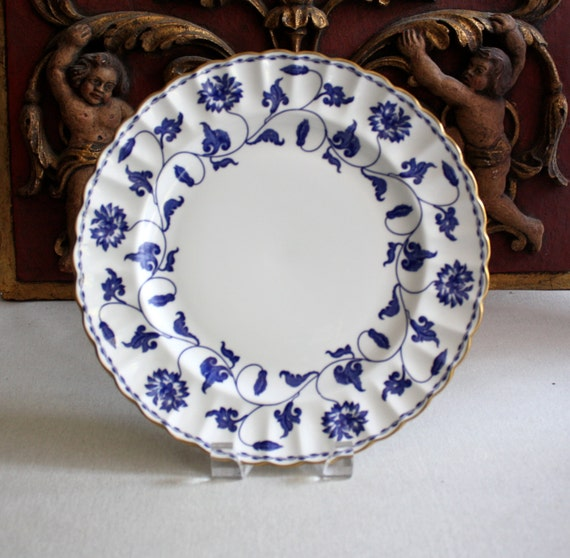Spode Dinner Plate / Blue Colonel with Gold Trim