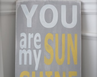 You Are My Sunshine, Wall Art, Custom Wood Sign, Wood Wall Art, Sign, Wood Sign, Vintage, Quote Sign,