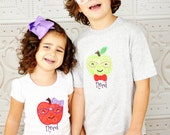 Apple Shirt, Baby Gown, or Dress - Apple T Shirt, Funny Shirt, School Spirit, Nerd Shirt, Nerd Glasses, Nerdy Baby, Nerd Dress