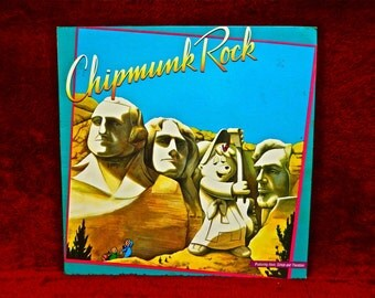 CHIPMUNK ROCK - Featuring Alvin, Simon and Theodore - 1982 Vintage Vinyl Record Album